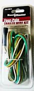 Four Pole Trailer Wire Kit 12 Volts 5ft Color Coded 22 Guage Wires Dot Standards