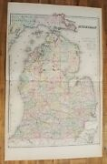 Antique Colored Map/gray's - Michigan - The National Atlas 1893