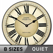 Waterford Wall Clock Large Wall Clock Ultra Quiet 8 Sizes Life Warranty