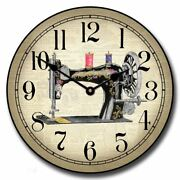 Sewing Room 2 Vintage Silent Wall Clock Comes In 9 Sizes