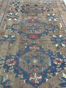 An Awesome Antique Sumac Rug With Exceptional Dark Camel Hair Background Color
