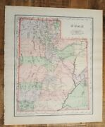 Antique Colored Map/gray's - Utah Or Arizona And Nm - The National Atlas 1893