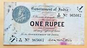 India 1 Rupee 1917 P1b Mcwatter King George Very Scarce