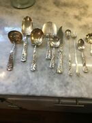 And Roses And Scrolls Circa 1890 By Whiting Antique Sterling Silverandserving Pcs.