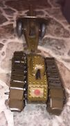 Mechanic Tin Toy 1930 Imperial Japan Army Tank Nr-5 And Cannon  🙂rare No 🔑 Key