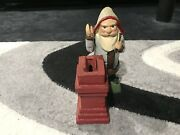 Vintage Cast Iron Coin Bank Of Gnome