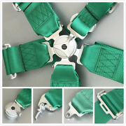 Green 5 Point 3 Inch Racing Harness Metal Cam Lock Latch Link Snap On Seat Belt