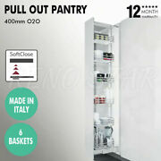 Italy Pull Out Pantry 6 Baskets Soft Close Heavy Duty For 400mm Cabinet Kitchen