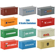 1pc/2pcs/5pcs 20ft N Scale 20ft Container 1160 Shipping Container 20' Cargo Box