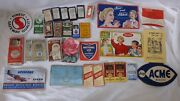 Vtg Assortment Sewing Craft Needles Advertising 31 Piece Trading Cards