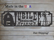 Large Farm Entrance/gate Sign Barn Wind Mill Personalized Est. Year S1299