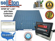 Ntep Legal 24 X 24 Floor Scale Pallet 10000 X 2 Lb With Data Col. Software