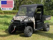 Vinyl Windshield And Roof Combo For Polaris Ranger Xp - Soft Top - Puncture Proof