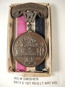 West Virginia For Liberty Civil War Medal To Jas W. Swisher And Box Plus Info On H