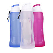 500ml Creative Collapsible Foldable Silicone Drink Sport Bottle For Water Eco-fr