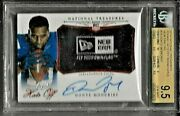 2014 National Treasures Hats Off New Era Tag Donte Moncrief Auto Rc 1/1 Bgs 9.5