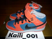 Nike Dunk Mid Pro Sb Size 4 314383-401 Red Blue 3 Bears Money Cat Peacock A