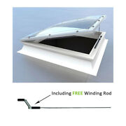 Opening Dome Roof Light Polycarbonate Flat Roof Skylight Window By Mardome