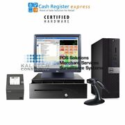 New Dell Pcamerica Cre Cash Register Express Pos Retail Version W/ Elo Screen