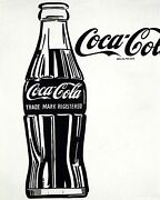 Pop Art Andy Warhol Coca Cola Xxxl 79x63in Handpainted On Canvas