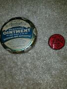 Lot Of 2 Vintage Old Medicine Tins Zinc Ointment And Rawleighs Ointment