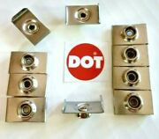 Dot Windshield Snap Clip 7/8 Stainless Steel 10 Pieces - Free Usa Ship