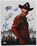 Walking Dead Cast Signed Autograph 11 X 14 Photo Beckett Signed By 9