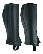 Unisex Adults Top-grain Cow Premium Leather Half Chaps Black And Brown