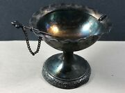 Rare Antique Pairpoint Mfg Quadruple Silver Plate Olive Bowl With Pick / Spear