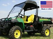 Hard Windshield And Roof Combo For John Deere Ts Tx And Turf Gator - Soft Top