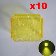 10x 3 Inch Spot Flood Yellow Led Work Light Bar Pods Protective Cover For Suv
