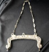 Vintage Coppini 800 Silver Purse Frame Swans Italy