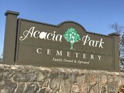 Acacia Park Chicago Il - 2 Side-by-side Cemetery Plots For Sale Tecoma Sect.
