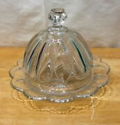 Beautiful Vintage Rare Glass Butter Dish With Dome By Heisey