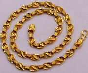 Fabulous Christmas Gifting 22k Gold Lotus Chain Menand039s Womenand039s Necklace Chain