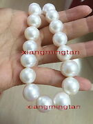 Big Aaaaa 1713-14mm Round Natural Real South Sea White Pearl Necklace 14k Gold