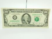 Old Paper Money 1990 One Hundred 100 Dollar Bill Federal Reserve Note New York