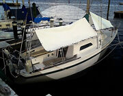 Sailboat Boom Tarp White 10and039 X 12and039 18oz Vinyl High Quality - Made In The Usa