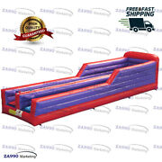 33x8ft Commercial Inflatable Bungee Run And Basketball With Air Blower