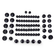 77 Piece Black Caps Cover Kit For 04-15 Harley Sportster Engine And Misc Bolt Nut