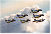 Delta 6 By Peter Chilelli - Blue Angels - United States Navy - Aviation Art
