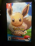 Pokemon Letand039s Go Eevee With Pokeball Plus Bundle Switch Nsw Used No Cable