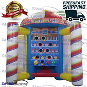 16x16ft 5 In 1 Outdoor Inflatable Carnival Fun Kids Games With Air Blower