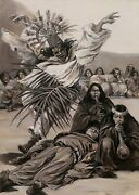Henri Malteste French Oil Painting Indians America Shamanism Dance Tribe