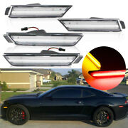 Clear Lens Front Amber Rear Red Led Side Marker Lights For 2010-15 Chevy Camaro