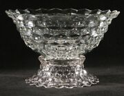 Fostoria Punch Bowl On Stand - American Clear Pattern