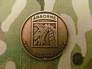 Vintage 18th Airborne Corps Cunning Endurance Ferocity Challenge Coin