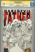Daredevil Father 1 Cgc 10 Ss Ww Sketch Variant Joe Quesada White Pages Not 9.8