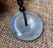 Certified Natural Myanmar Grade A Highly  Translucent Icy Jadeite Donut Pendant