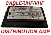 Hd Antenna Distributor Amplifier Signal Booster Cable Tv Amp Comcast Uhf Fm Vhf